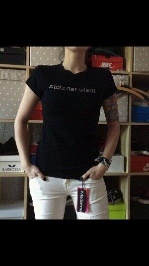Schwarzes Shirt -stolz der Stadt- M