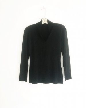 schwarzes / shirt / top / vintage / evelin brandt / business look / blackfashion / longsleeve