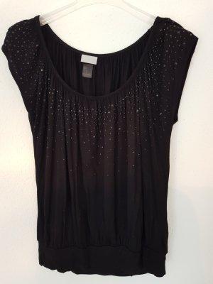 Schwarzes Shirt/Top von H&M Größe XS 34