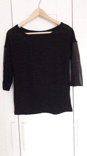 Schwarzes Shirt von Bershka in Größe XS 3/4 ärmlig