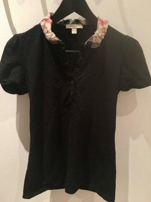 Schwarzes Shirt von Burberry mit Bubikragen