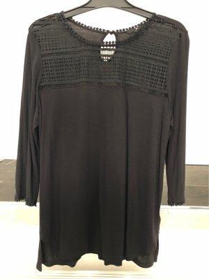 H&M Camisa de ganchillo negro