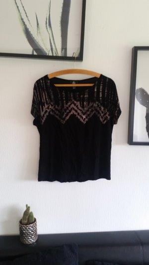 Schwarzes Shirt von Mango