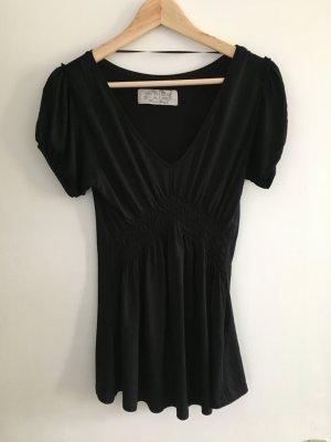 Zara V-Neck Shirt black viscose
