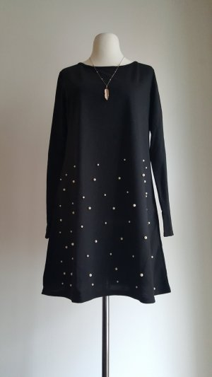 Shirt Dress black-white polyester