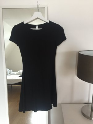 American Apparel Shortsleeve Dress black viscose