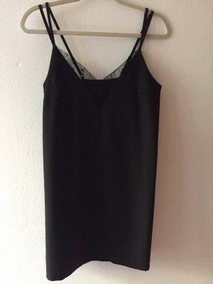 Schwarzes Slip-Dress von Asos in Gr. 36