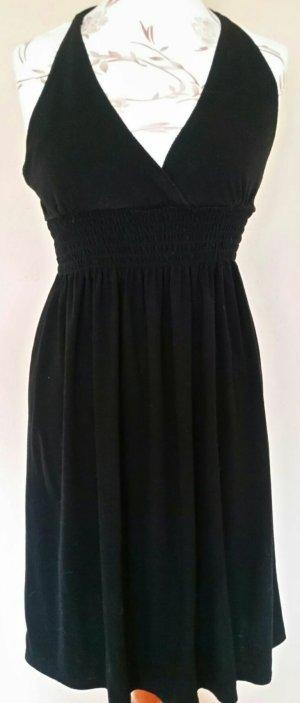 Schwarzes Sommer Neckholder Kleid