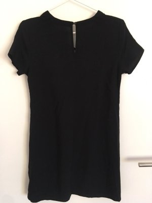 Abercrombie & Fitch Vestido de tela de jersey negro Viscosa