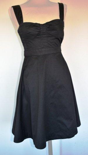 Mango Off the shoulder jurk zwart Katoen
