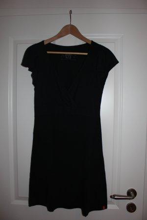 schwarzes Sommerkleid in Wickeloptik EDC, Gr.M