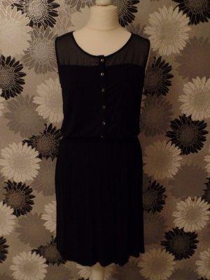 schwarzes Sommerkleid, knielang, von Esprit, XL