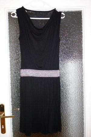 Neighborhood Kanten jurk zwart-zilver Viscose