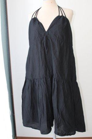 schwarzes Sommerkleid Neckholder 100%Baumwolle H&M Gr. 40 L