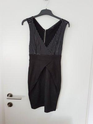 schwarzes Sommerkleid Partykleid polkodots Gr 34