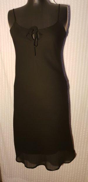 schwarzes Spagettiträgerkleid,Gr.36 von Colloseum