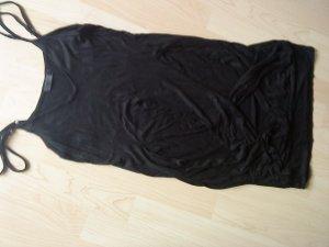 schwarzes Spaghettiträger-Shirtkleidchen von Only M