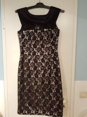 schwarzes Spitzen Abendkleid