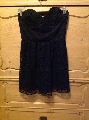 Schwarzes Spitzen Bustierkleid von Zara