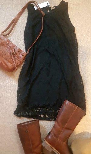 Schwarzes Spitzen Kleid s, 36