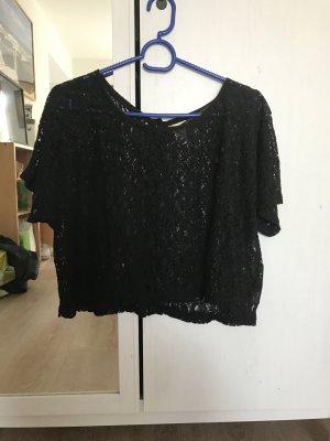 schwarzes Spitzen - Shirt