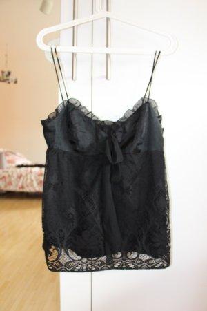 Schwarzes Spitzen-Top von Zara Größe XS