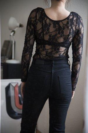 schwarzes Spitzenkleid von H&M
