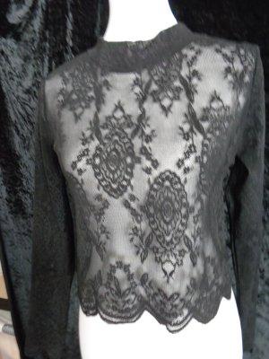 Rainbow Lace Blouse black synthetic fibre