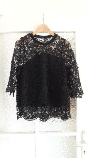 Schwarzes Spitzentop von Zara