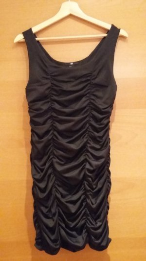 H&M Stretch jurk zwart Gemengd weefsel