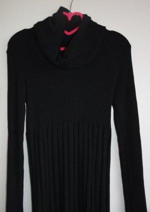 Gebreide jurk zwart Gemengd weefsel