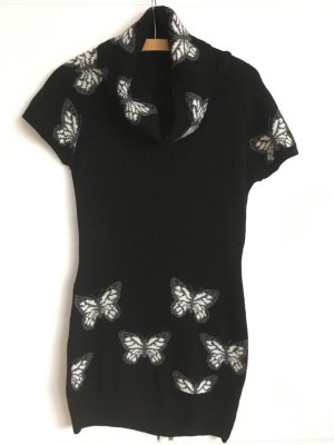 Robe pull noir-blanc