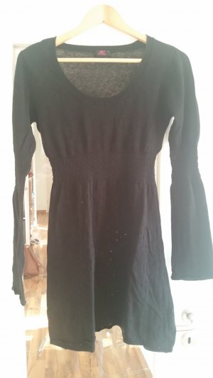 Ann Christine Robe en maille tricotées noir
