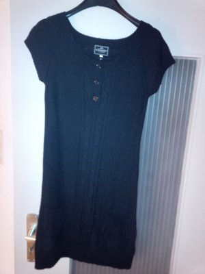 Schwarzes Strickkleid Minikleid Kleid Gr. S Rundhals