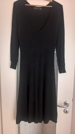 Zara Knitted Dress black mixture fibre