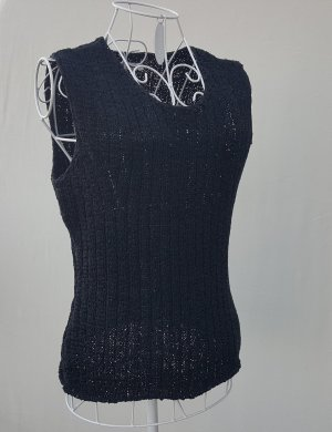 Savannah Knitted Top black mixture fibre