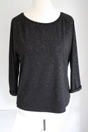 Schwarzes Sweatshirt H&M Glitzershirt