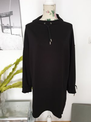 Schwarzes Sweatshirt Kleid, Long Hoodie von Topshop