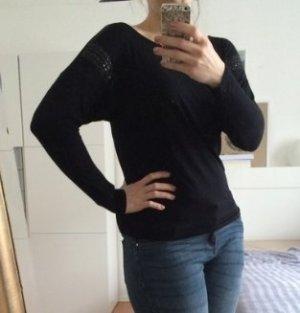 schwarzes Sweatshirt mit Applikation von Promod M