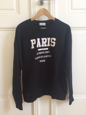 Schwarzes Sweatshirt mit Druck