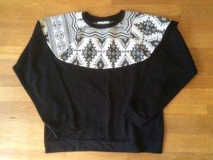 Schwarzes Sweatshirt mit Ethno-Muster von 24colours