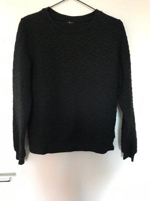 Schwarzes Sweatshirt mit Struktur