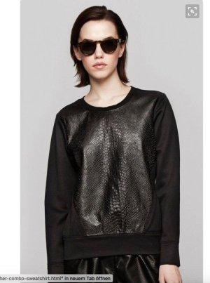 schwarzes Sweatshirt von helmut Lang aus Leder