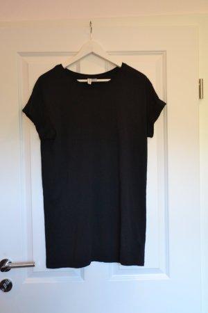 Schwarzes T-shirt-Kleid