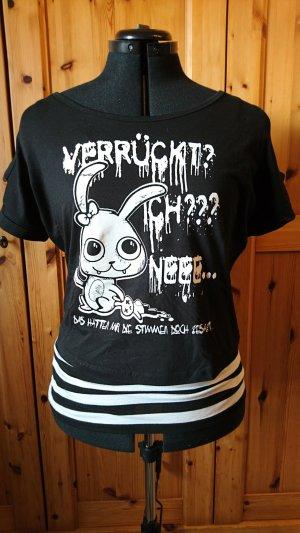 mister*lady Shirt met print wit-zwart