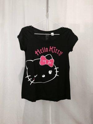 Schwarzes T-Shirt mit Hello Kitty Print von H&M