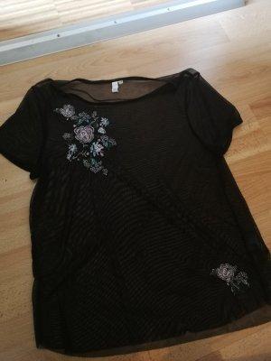 schwarzes T-Shirt mit Muster