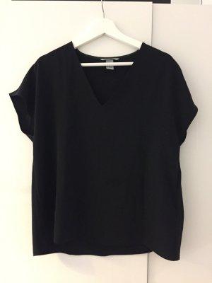 H&M V-hals shirt zwart