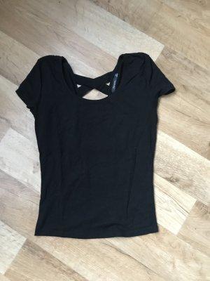 Schwarzes t Shirt rückenfrei