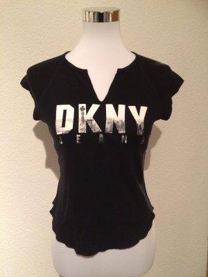 schwarzes T-Shirt / Shirt von DKNY Jeans - Gr. 36